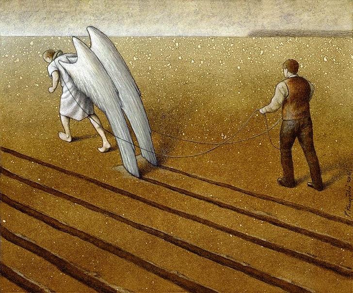 Polonyalı Sanat Pawel Kuczynski Yaşadığımız Sahte Dünyayı Gösteren Resimleri 10