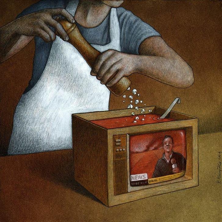 Polonyalı Sanat Pawel Kuczynski Yaşadığımız Sahte Dünyayı Gösteren Resimleri 19