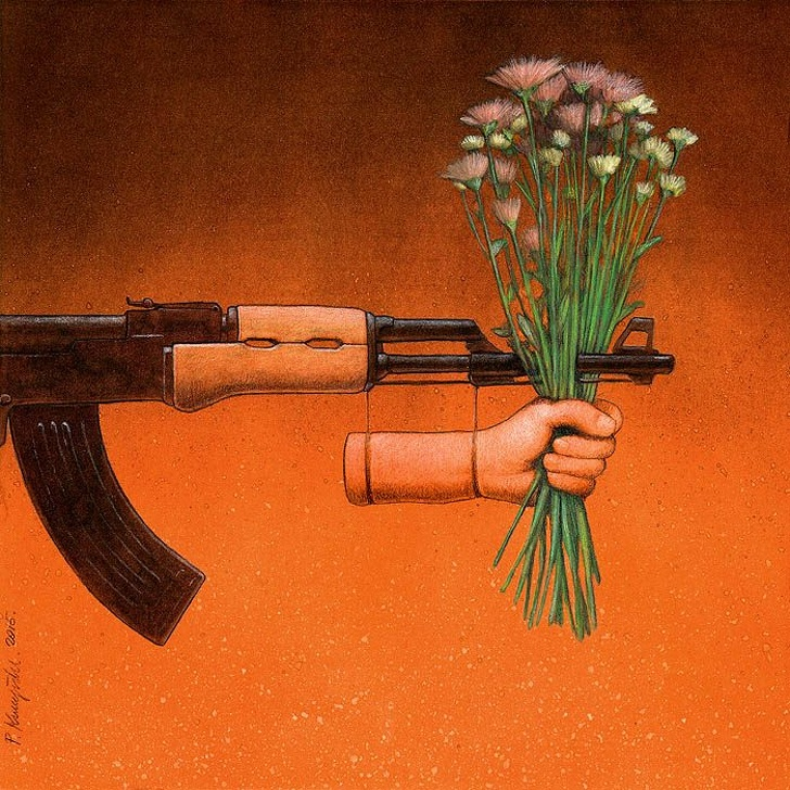 Polonyalı Sanat Pawel Kuczynski Yaşadığımız Sahte Dünyayı Gösteren Resimleri 20