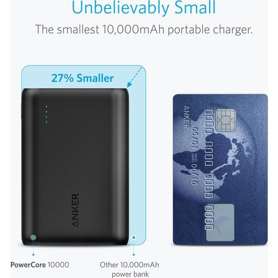 Anker PowerCore 10.000  mAhTaşınabilir Şarj Cihazı PowerBank - Anker Micro Usb Kablosu ve Seyahat Çantalı