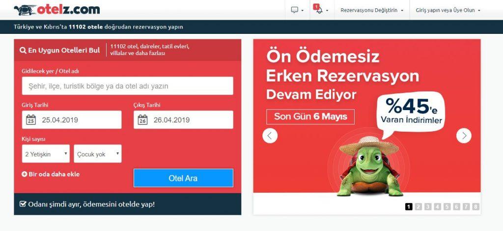 Otelz.com otel sitesi