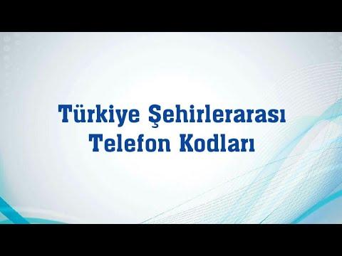 türkiye şehirlerarası telefon kod numaraları