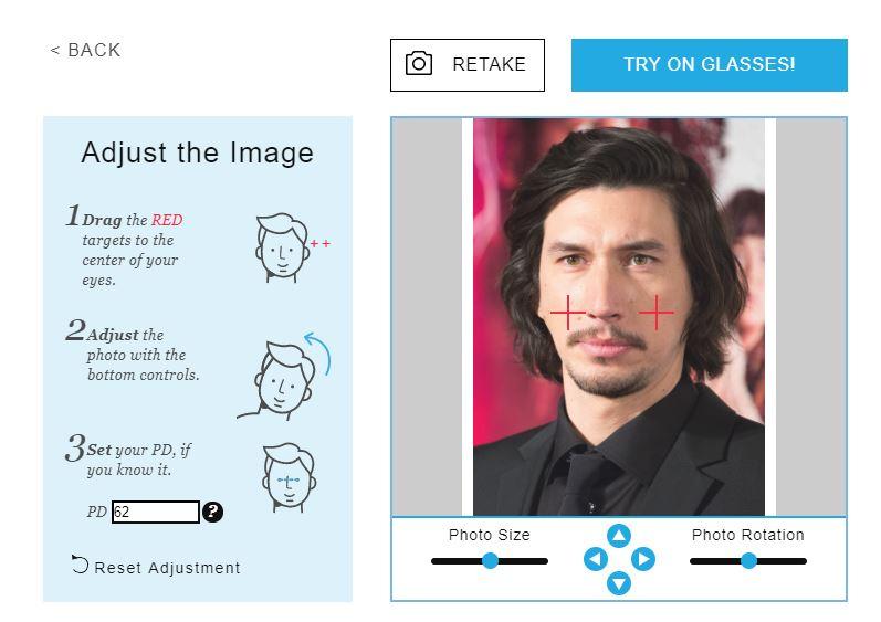 Online Gözlük Seçimi Programı