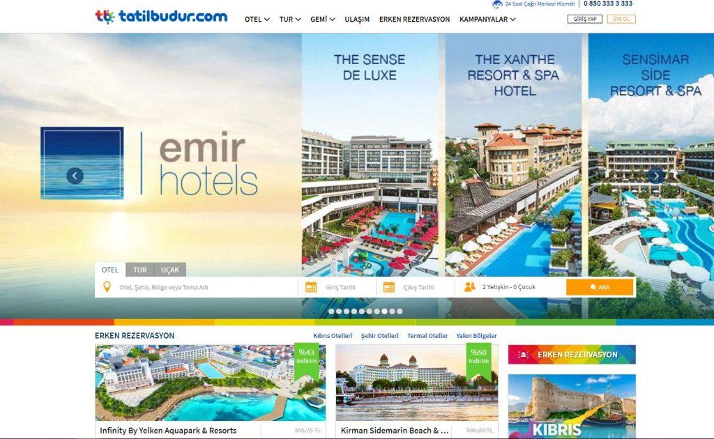 Tatilbudur.com  Tatil Budur.Com, Otel, Tatil Köyü ve Oteller 'de erken rezervasyon kampanyalarıyla en ucuz tatil rezervasyon imkanı sunan otel rehberi ve tatil sitesidir..
