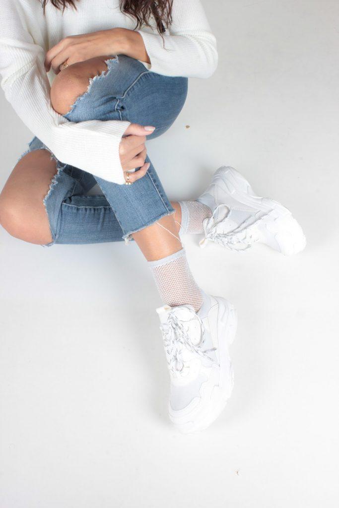 İnan Ayakkabı- Beyaz Cilt Kadın Spor Ayakkabı Y5623
