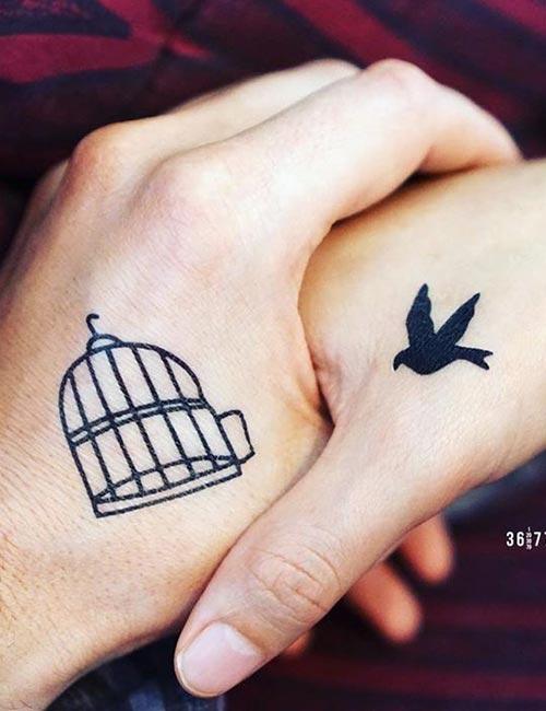 Kuş ve Kafes Dövmesi