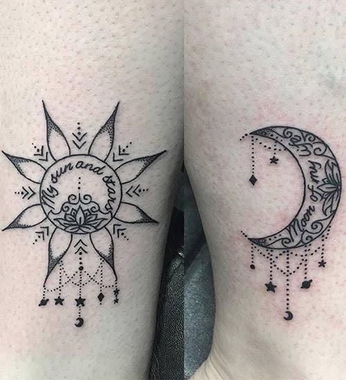 Ay ve Güneş Dövmesi