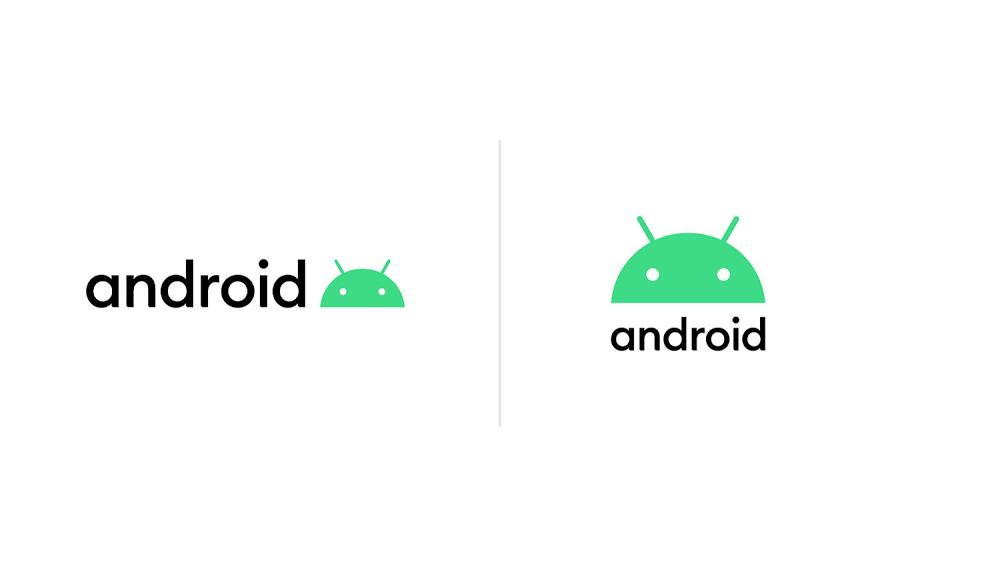 Android'in yeni logosu ve yazı şekli