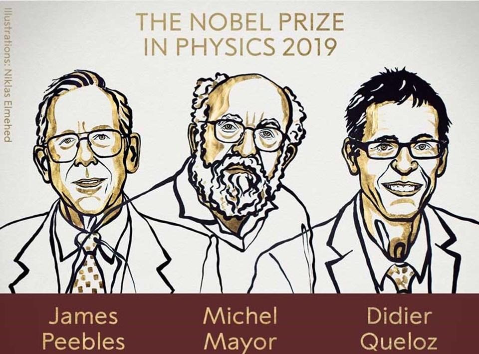 2019 Nobel Fizik Ödülü sahiplerini buldu