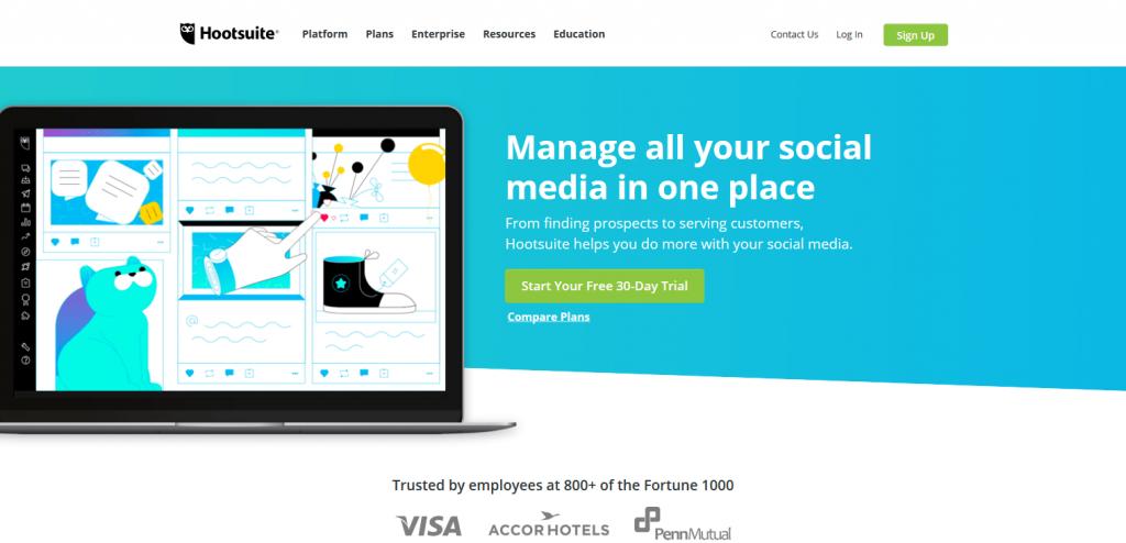 sosyal medya yönetim aracı hootsuite