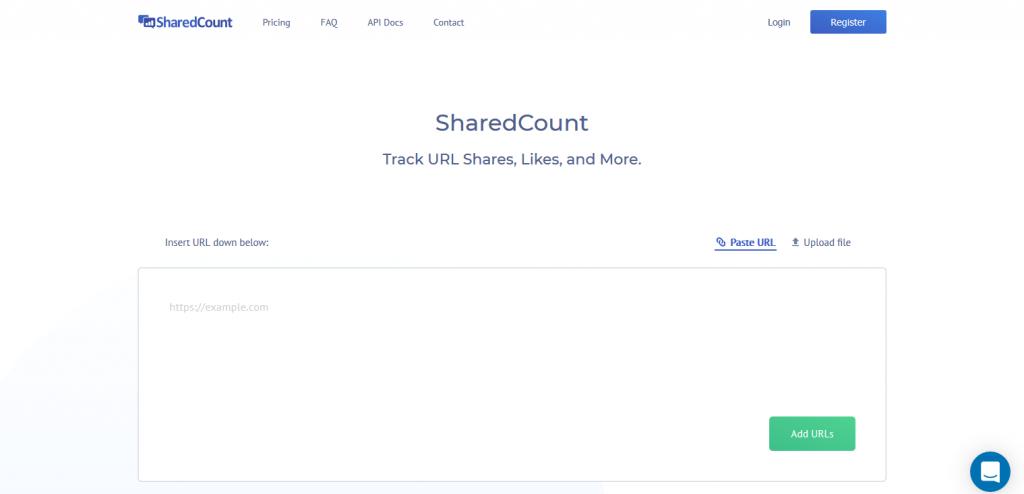 sosyal medya aracı ShareCount