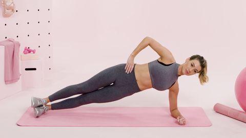 Yan yağların yakımı için etkili plan side (yan) plank hareketi