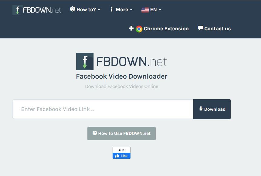 FBDown.Net - Facebook Video indirici