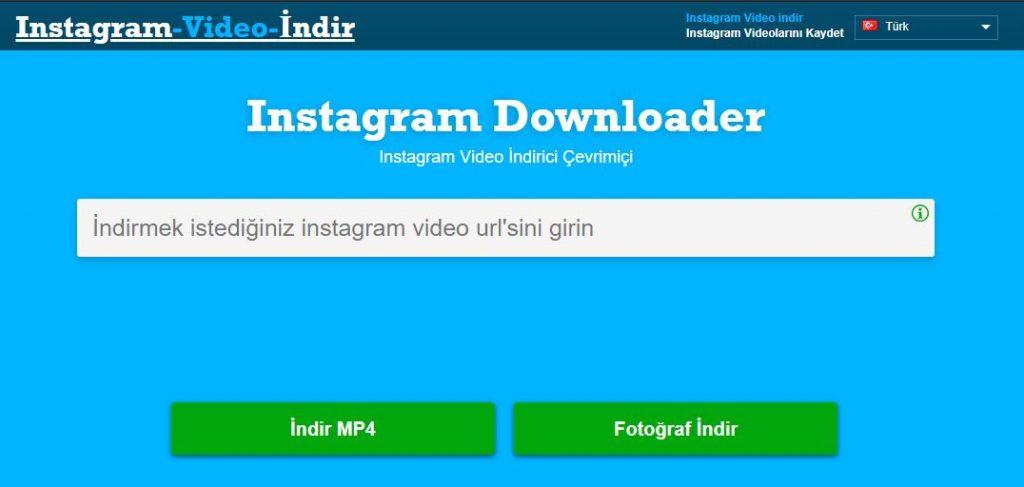 Instagram Downloader - Çevrimiçi Instagram Video İndirici