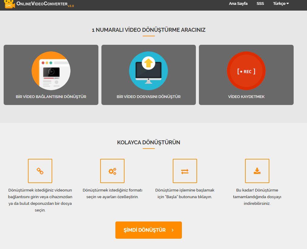 OnlineVideoConverter.com - Online Video dönüştürücü
