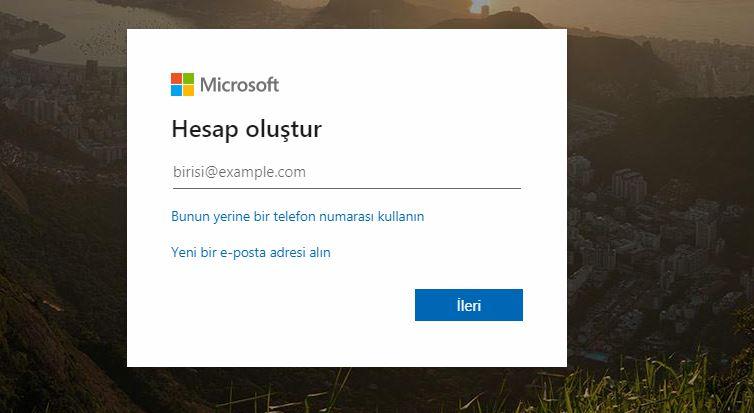 Outlook hesabı nasıl açılır