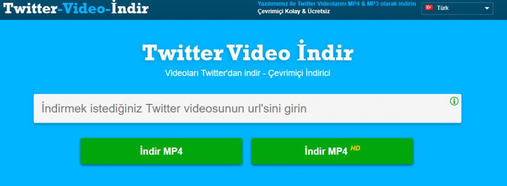 Twitter Online video indirme sitesi