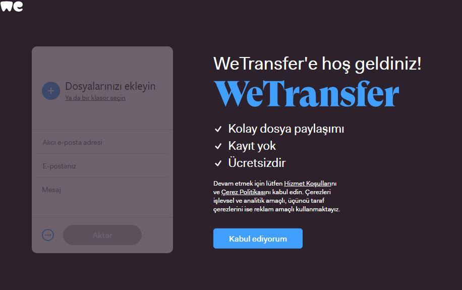 Ücretsiz dosya transfer uygulaması