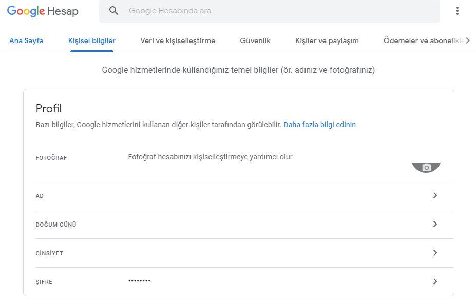 Bilgisayardan Gmail şifresi değiştirme