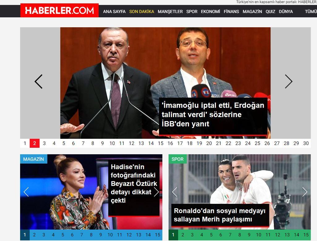 En iyi haber siteleri:Türkiye sıralaması 1