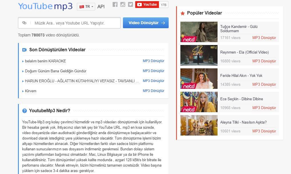 Youtube-Mp3.org.in MP3 - MP4 indir