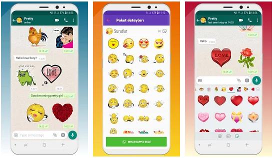 WhatsApp sticker paketleri indir : komik - aşk en iyi 1