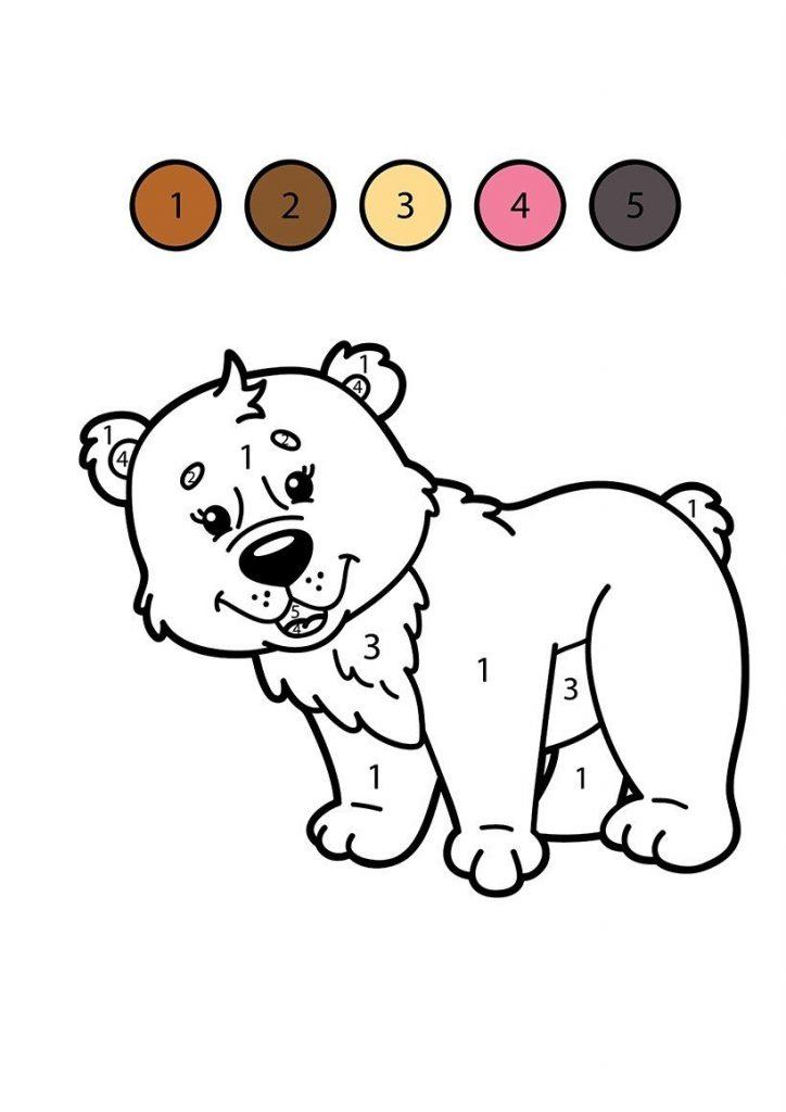 Cocuklar Icin Yazdirilabilir Renk Numarali Boyama Sayfalari