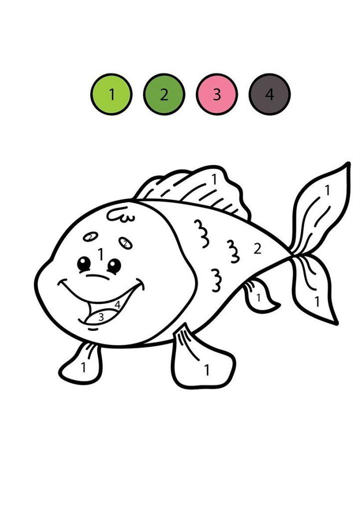 Balık boyama resmi