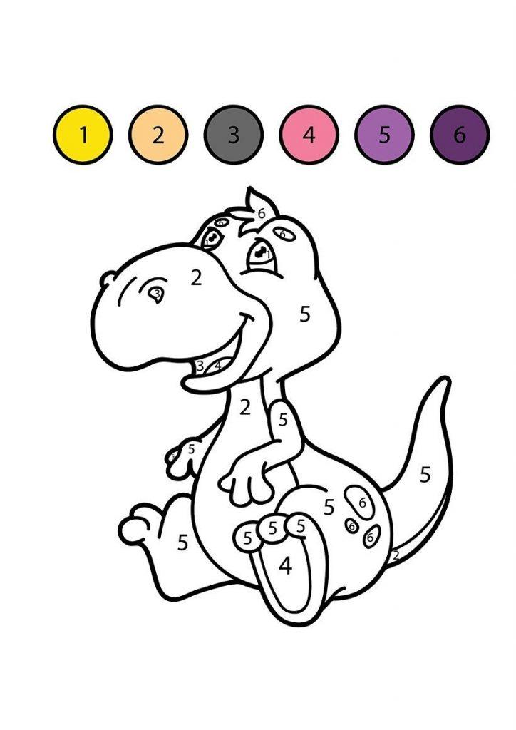 Dinozor boyama resmi