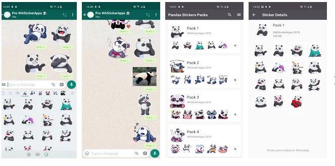 Komik Panda Çıkartmalar WAStickerApps