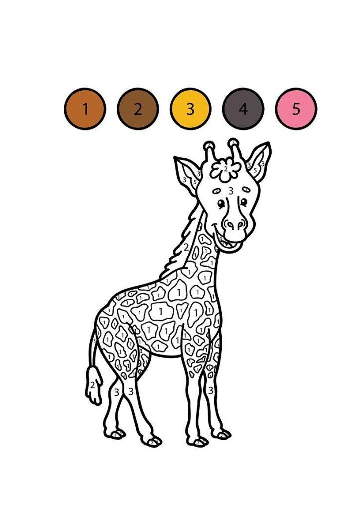zürafa boyama resmi