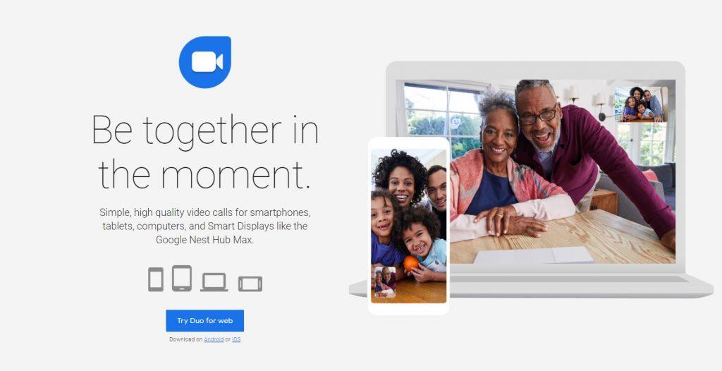 Google Duo - Yüksek Kaliteli Görüntülü Konuşma