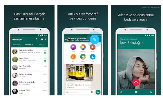 WhatsApp - Sesli veya görüntülü konuşma