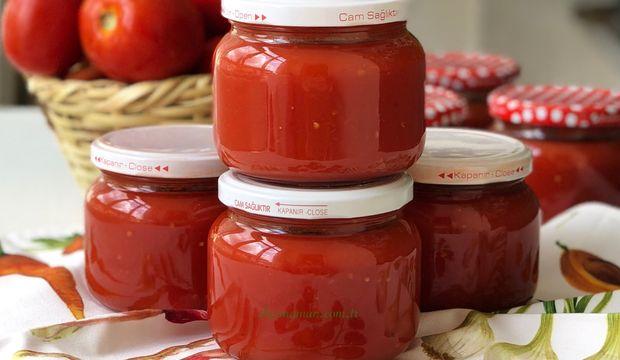 Kışlık Domates sosu yapımı