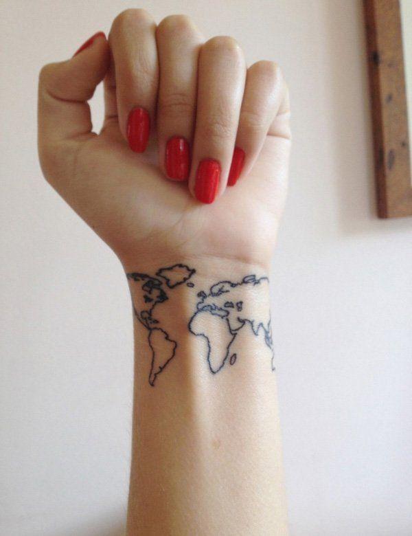 bilek harita  dövmesi